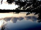 clouds in lake