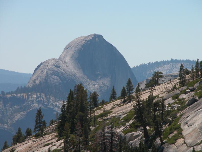 Olmsted Point looks to Half Dome from the East