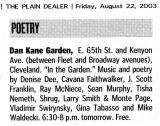 listing in Plain Dealer 'Friday!' section
