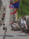 My mom on the Great Wall of Chinaby JaimeZX