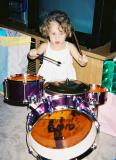 Caitlin on Drums