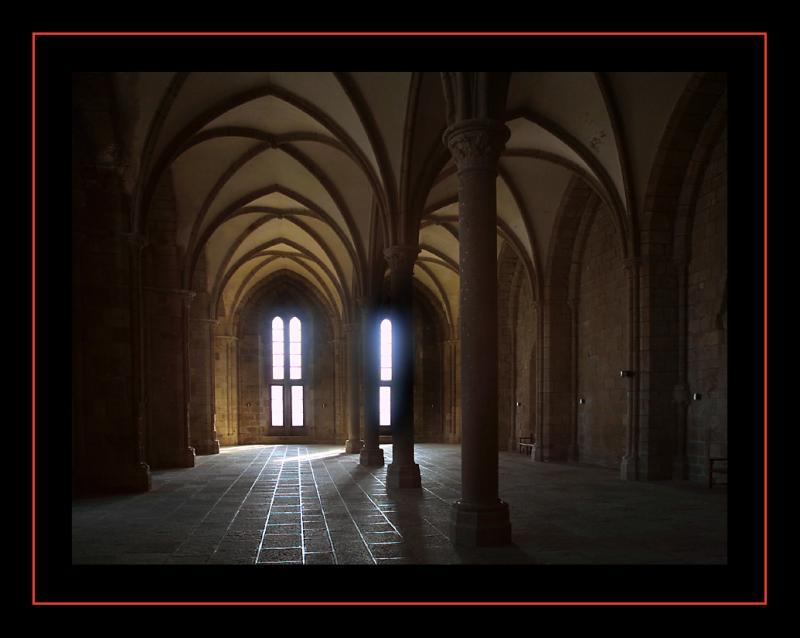 Mont St Michel, la salle des hôtes