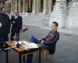 junger literat aus dem lehrlingsprotest, igor jerkovic (autor der poetischen berufsschülerInnenzeitung odyssee