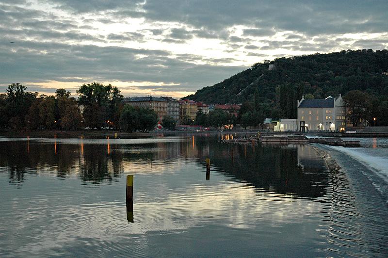 Vltava River at dusk