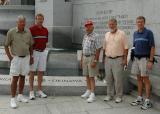 Visiting the WWII Memorial in DC, June 2004