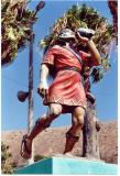 Statue of a chasqui runner in Chasquitambo