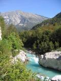 Beautiful green Soca River