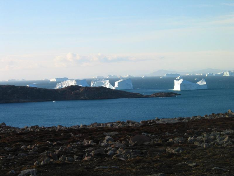 Clear day in Greenland
