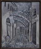 The narrow streetaluminum 25x20.5cm.