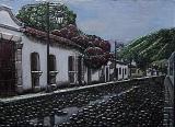 Antique city of Guatemalaaluminum 45x35cm.