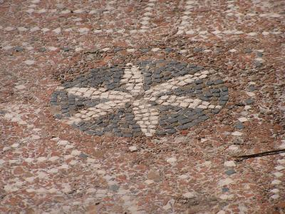 Pattern still visible on floor in middle-class house