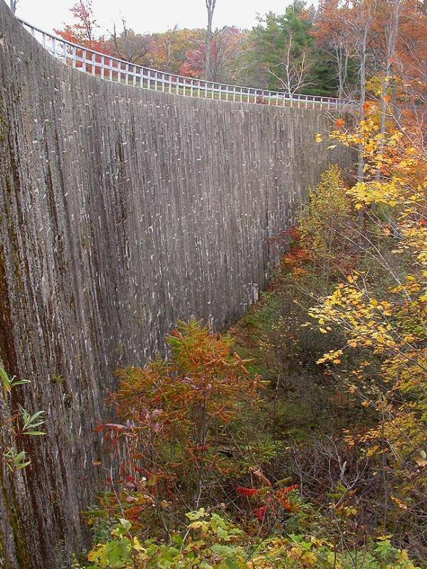 Stone arch dam at Jones Falls - completed 1831