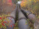 Wooden feeder tubes for hydro dam