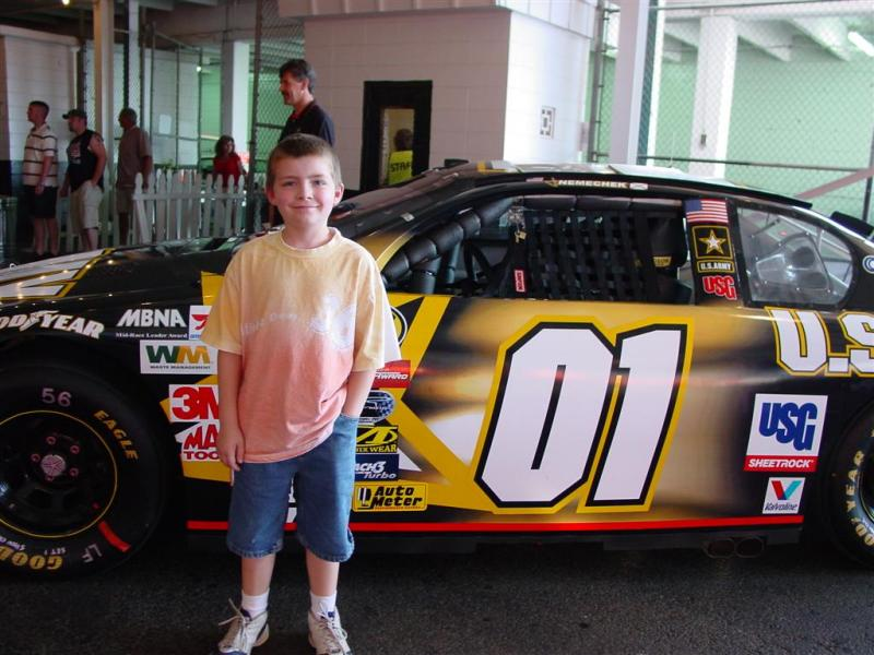 Grandsons first stock car race