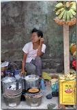 Shy smile - Hledan Market, Yangon