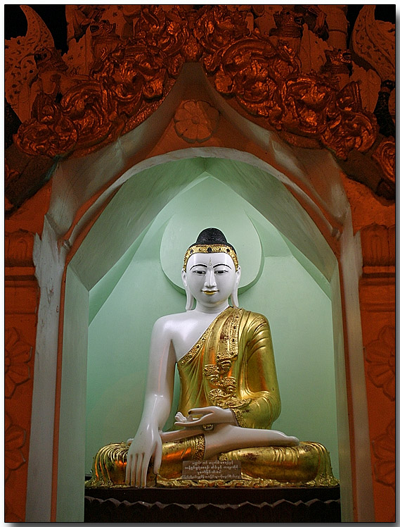 A Buddha near the Shwedagon