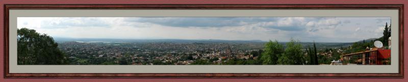 San Miguel - Panorama from Casa Jardin balcony