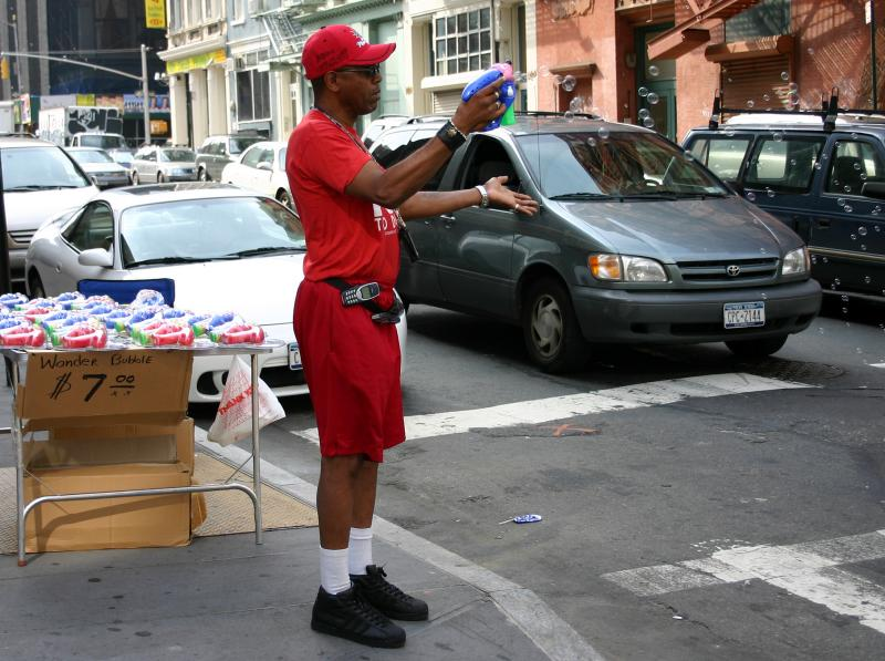 Wonder Bubble Guns for Sale on Broadway & Broome Street