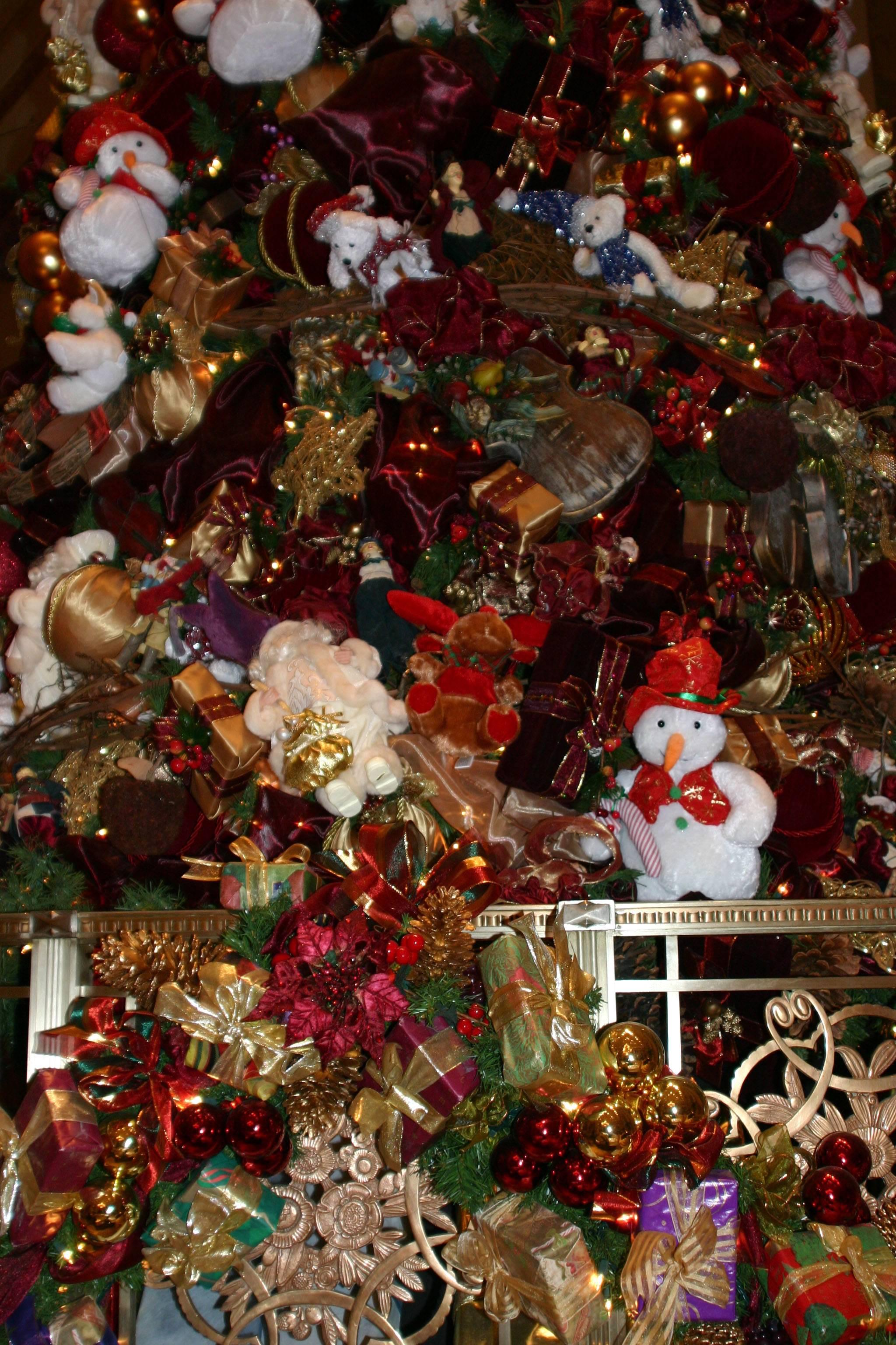 Christmas Tree Decorations Waldorf Astoria Hotel Lobby Photo