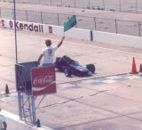 GETTING THE GREEN FLAG AT THE START OF MY SOLO 1 RUN AT SEBRING RACEWAY IN FLORIDA