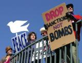Drop Sanctions not Bombs Peace