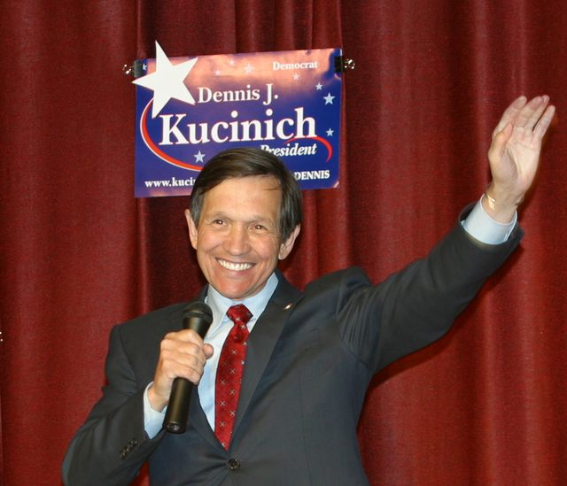 Kucinich announces his candidacy