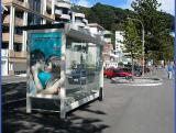 Bus stop at Oriental Bay