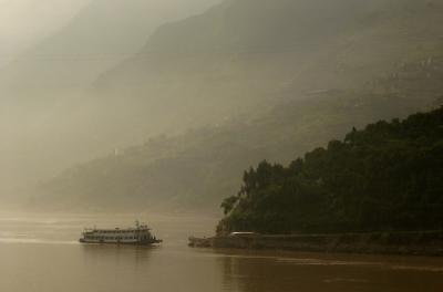 The Old Yangtze Ferry, Sanxia, China, 2004