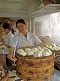 Fast food worker, Shanghai, China, 2004