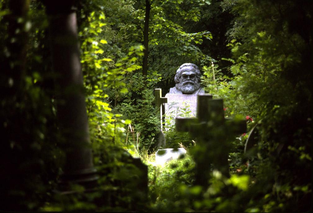 Grave of Karl Marx, Highgate Cemetery, London, England, 1985