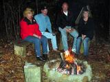 The NASCAR Race Folks At The Cabin Firepit