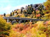 Closer photo of the Linn Cove Viaduct