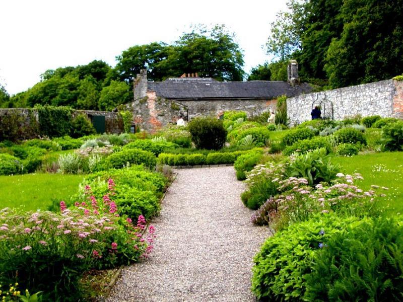 Formal gardens at Bunratty
