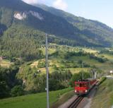 train near Fiesch
