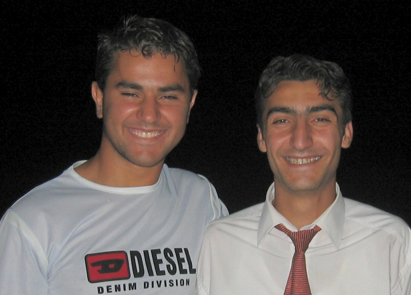 Closer up , Yilmaz and his cousin