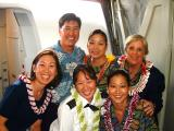 We're going to Oakland....Mahalo Richard for the beautiful leis!