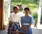Sr. Najah and Seham at Emmanuel House in Swansea, Wales, UK