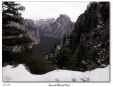 View of Half Dome from the 4-mile trail