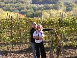 Couple shot on vineyard
