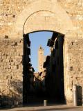 Gate to enter San Gimignano