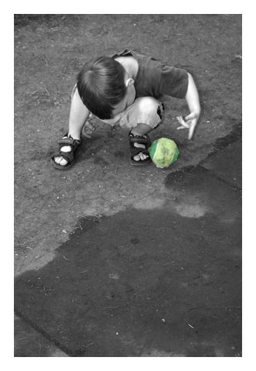 <b>Boy Playing</b><br><font size=2>by Byron Stuckless</font>