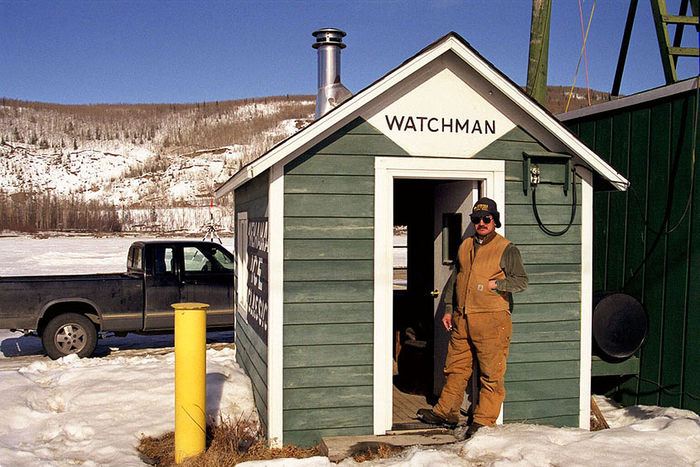 Ice Classic watchman on duty