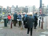 Beginning of guided tour, man in green jacket is Jan van der Wier, our guide