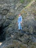 david on rocks