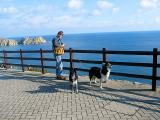 David & the dogs at minack
