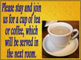 'Tea and coffee' slide from the 2003 Easter series