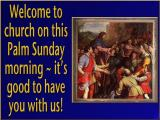'Welcome' slide from the Palm Sunday series