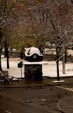 snowy kiosk