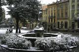 a corner fountain