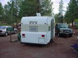 1977 tag-a-long trailer  KOA Camping Flagstaff